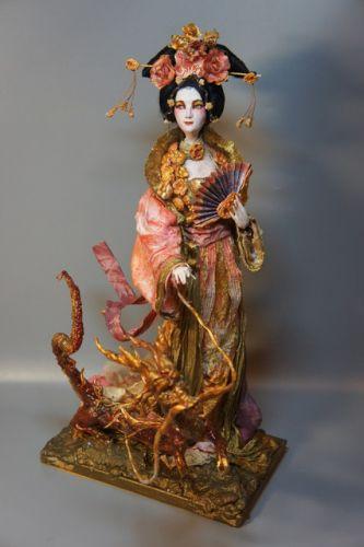 Запись онлайн мастер-класса 'Азиатская принцесса и дракончик' (Наталья Филинова)