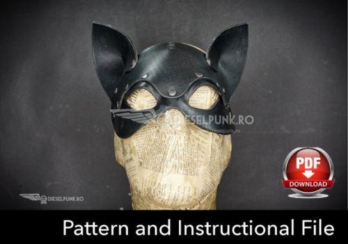 Выкройки масок из кожи. Кот и Кролик. (DieselpunkRo)