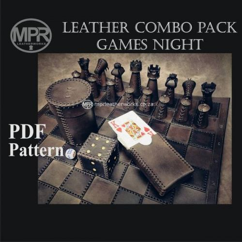 Выкройки аксессуаров из кожи для настольных игр [MPR leatherworks]