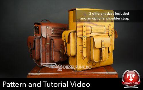 Выкройка кожаного рюкзака [DieselpunkRo]