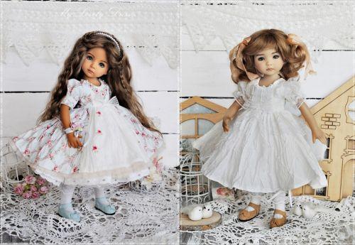 Винтажное платье на кукол Литтл Дарлинг и Паола Рейна (Нур Рун)