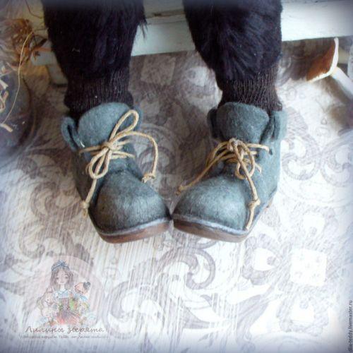ВИДЕО-МК 'Ножки в ботинках' обувь для Тедди и кукол+ПДФ-инструкция (Лилия Небессная)