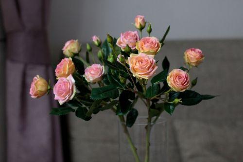 Веточка кустовых роз из полимерной глины (Марина Головина)