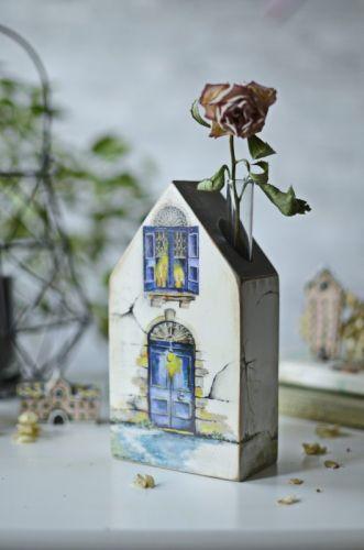 Ваза с колбой «Дом моей мечты» (Юлия Голован)