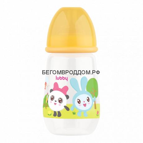 Бутылочка Lubby для кормления  Малышарики  от 0 мес., 250 мл