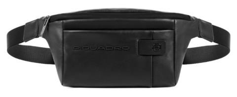 Сумка на пояс Piquadro CA2174UB00/N кожаная черная