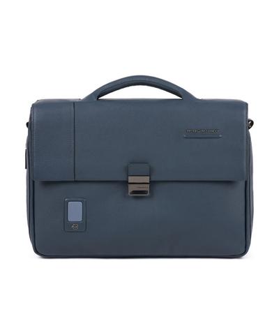 Портфель кожаный мужской Piquadro CA3111AO/BLU синий