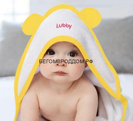 Полотенце Lubby  с уголком от 0 месяцев