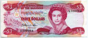 Багамские острова 3 доллара 1974