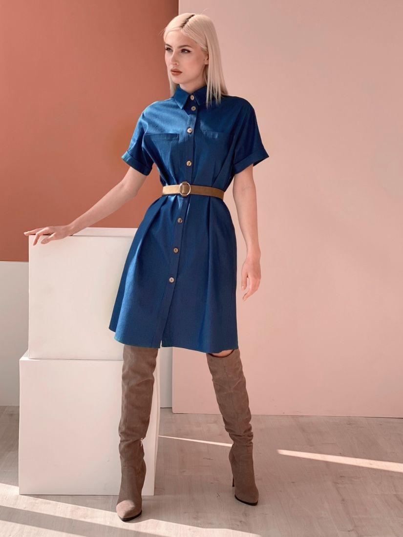 4563 Платье-рубашка из денима