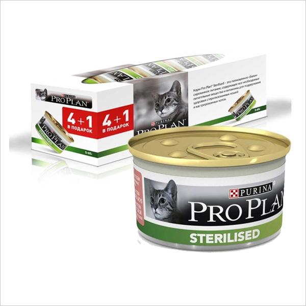 Влажный корм для стерилизованных кошек Pro Plan Sterilised с лососем с тунцом