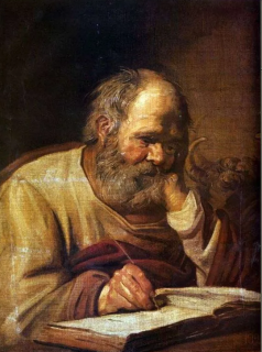 Святой Лука (Репродукция Франса Халса)