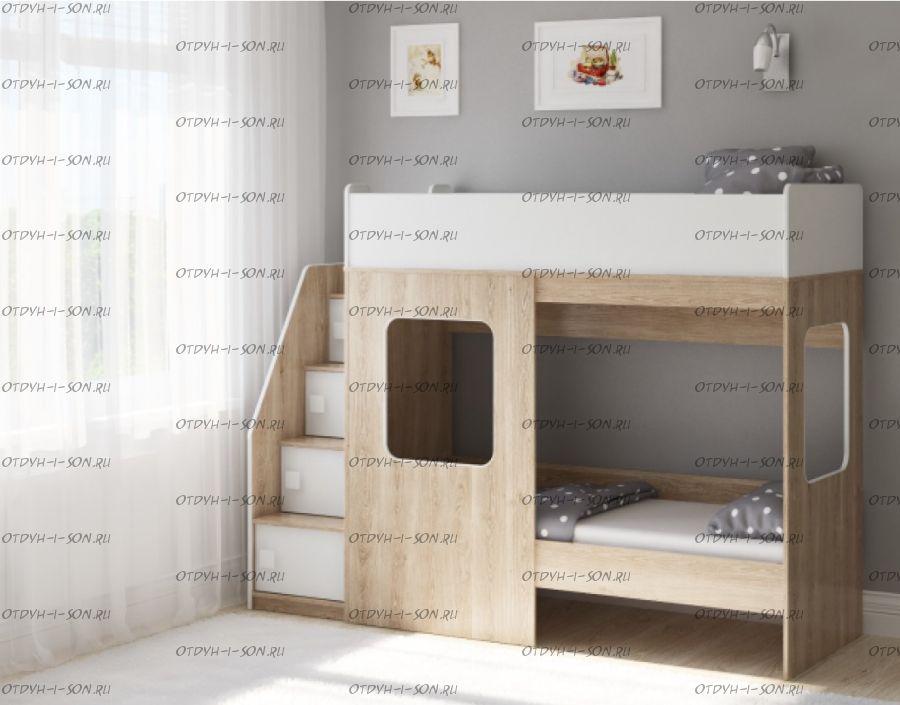 Кровать двухъярусная Легенда D604.3, два варианта цвета