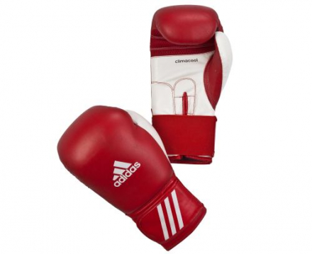Перчатки боксерские adidas Performer красно-белые 8 унц. артикул adibc01
