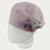зд1234-37 Берет платочной вязки Флёр нежно-фиолетовый