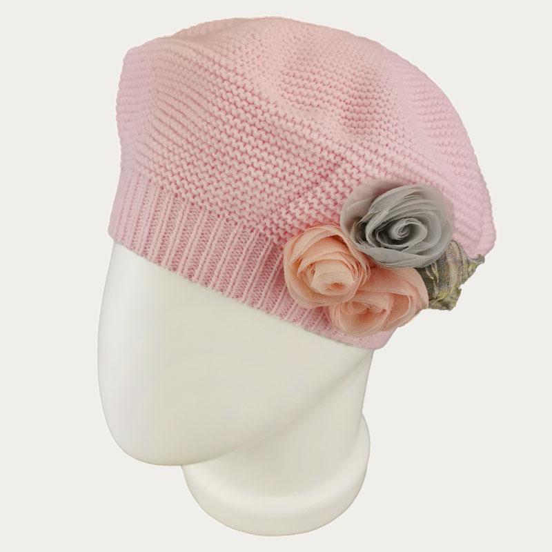 зд1234-47 Берет платочной вязки Флёр розовый