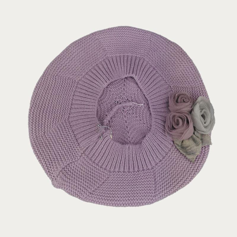 зд1234-61 Берет платочной вязки Флёр фиолет