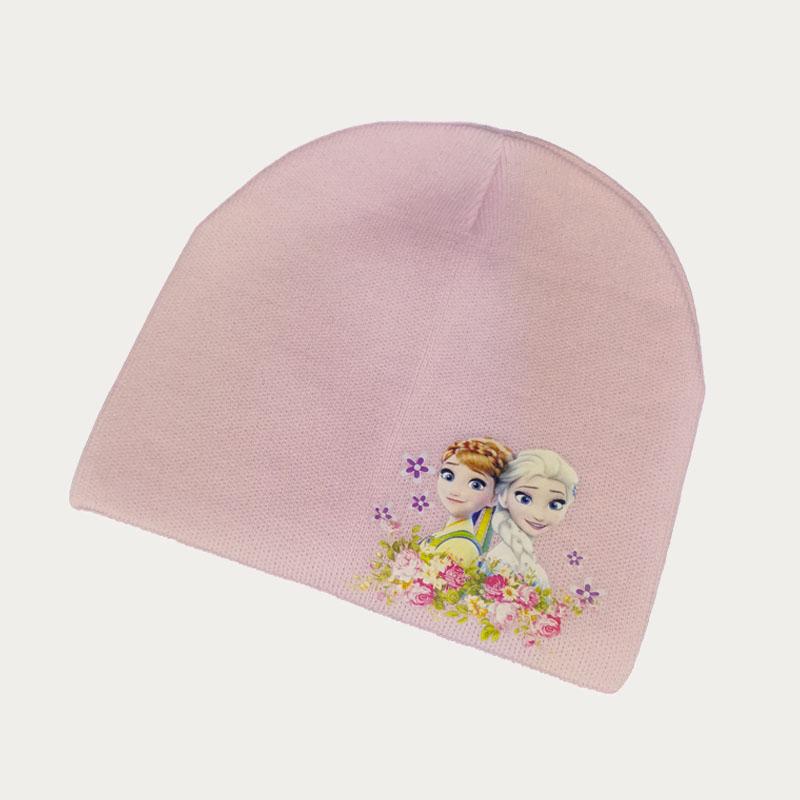 зд1237-36 Шапка вязаная одинарная Девочки нежно-розовая