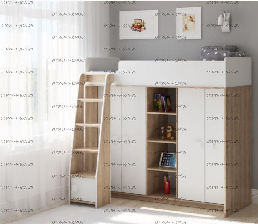 Кровать-чердак Легенда E601.1, два варианта цвета