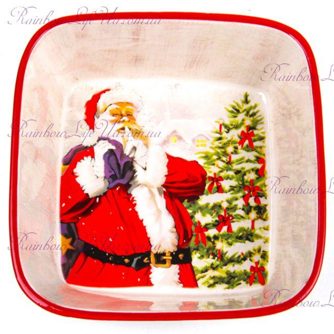 "Салатник новогодний 18 см ""Санта Клаус"""