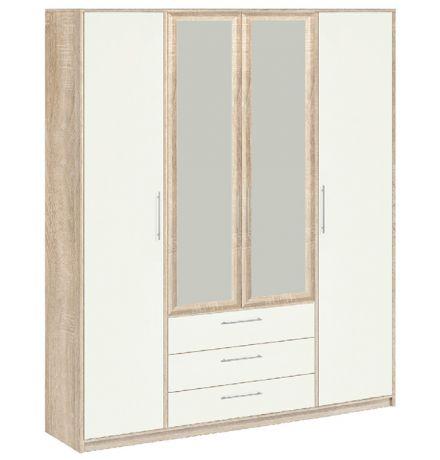 8.041Z Вайт Шкаф для одежды с зеркалом