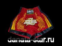 Шорты для тайского бокса DANATA STAR LION красные, размер S