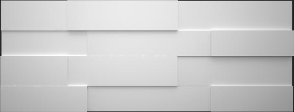 3D Панели МДФ Белый