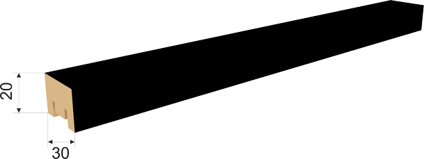 Рейка интерьерная 20х30х2700