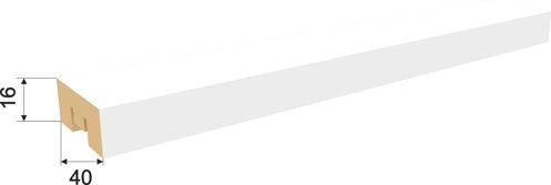Рейка интерьерная Белая