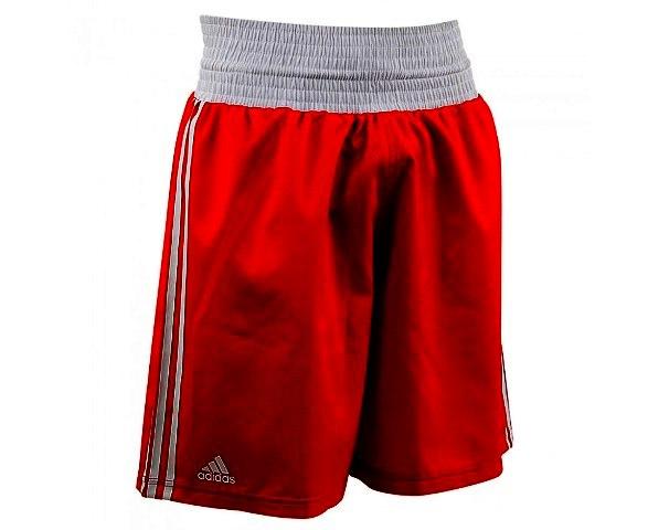 Шорты боксерские Adidas Boxing Micro Diamond красные, размер M, артикул adiBTS01