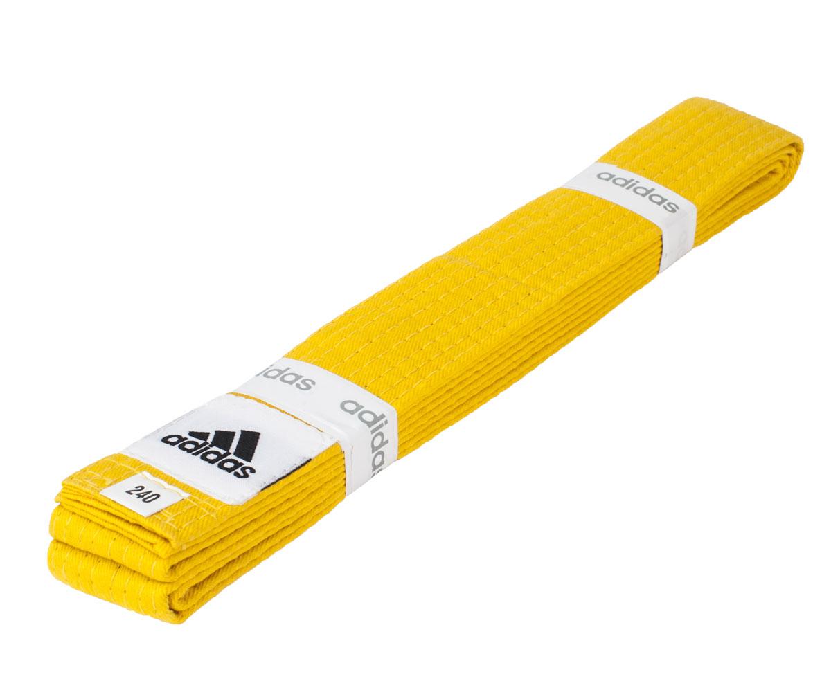 Пояс для единоборства Adidas club жёлтый, длина 320 см, артикул adiB220-YL