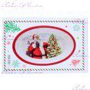 """Блюдо новогоднее для запекания 28 см """"Санта Клаус с мешком"""""""