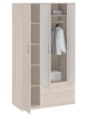 8.031Z Шкаф 3-х дверный с ящиками с зеркалом Лотос