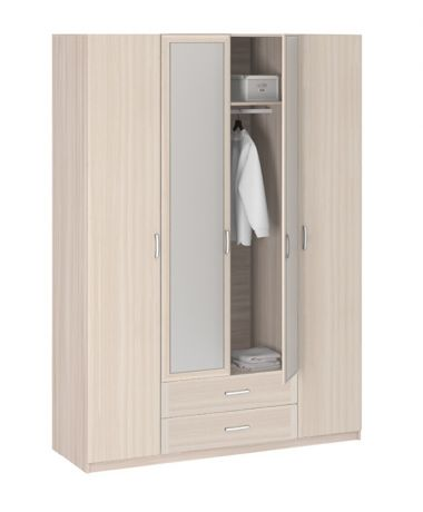 8.041Z Шкаф 4-х дверный с зеркалом Лотос