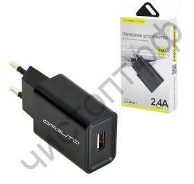СЗУ OT-APU31 с 1 USB выходом Черный (5В, 2400mA)