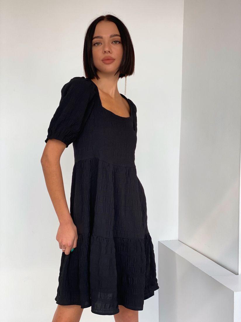 4592 Платье-парашют чёрное