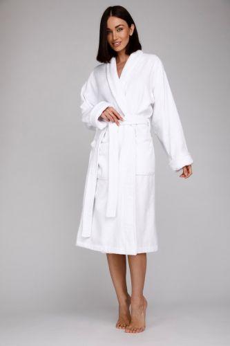 Женский махровый халат Arctic White