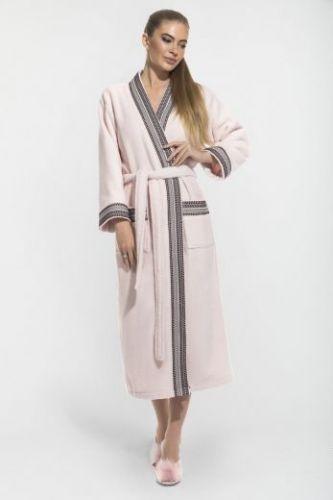 Женский махровый халат Elegance