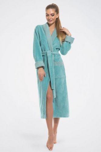 Женский махровый халат Belette ментол