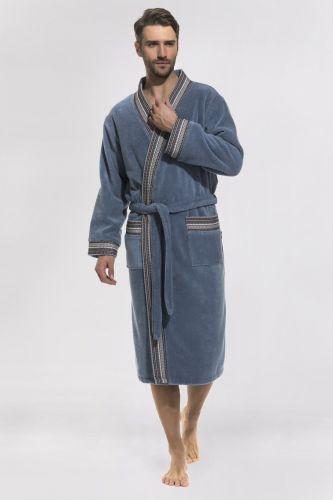 Мужской махровый халат Elegance