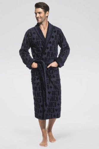 Мужской махровый халат Black Jack темно-синий