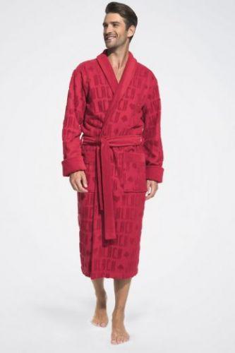 Мужской махровый халат Black Jack красный