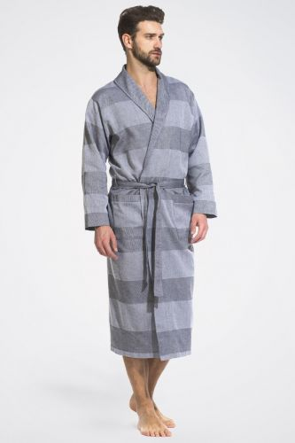 Легкий мужской халат Pur Organique серый