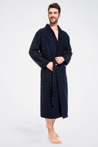 Халат облегченный махровый из бамбука Organique Bamboo синий
