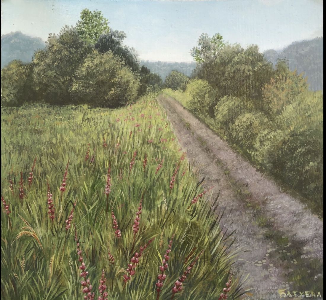 Дорога через поле