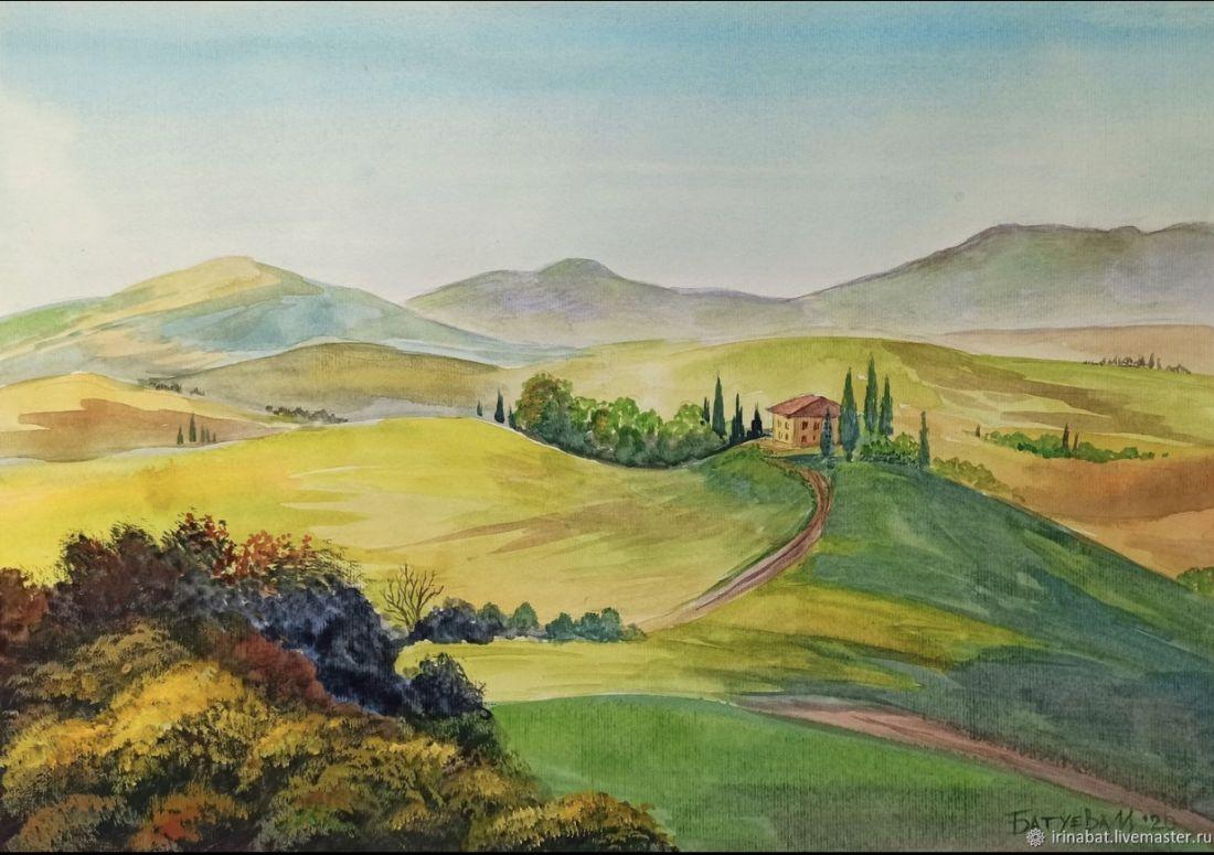 Холмы с кипарисами