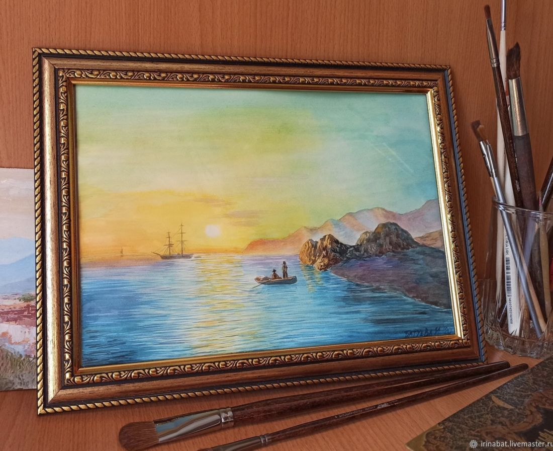 Морской пейзаж На рассвете
