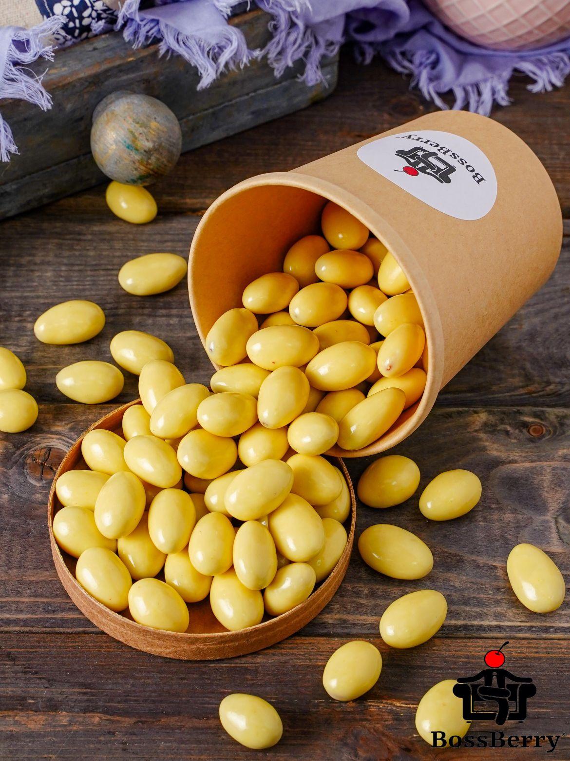 Миндаль в апельсиновой йогуртовой глазури