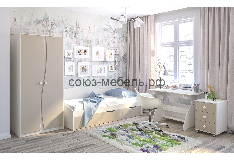 Молодёжная Комби (Шкаф МН-211-16, Кровать МН-211-02, Стол СТ-5, Тумба МН-211-04)