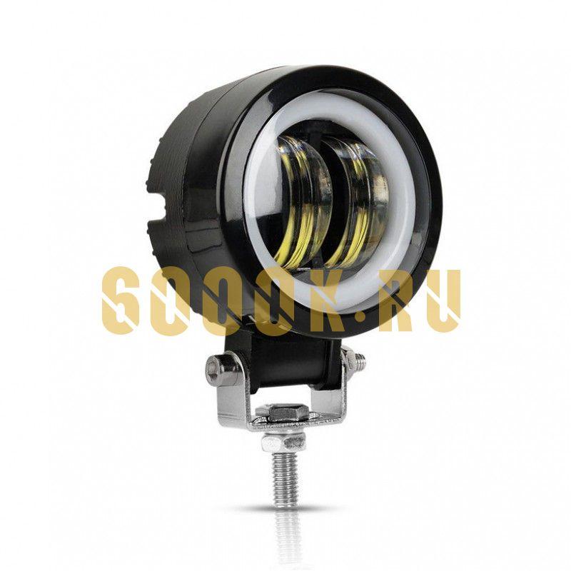 LED фара круглая 20 ватт рабочего света 12 вольт, 24 вольт, 48 вольт, 60 вольт, 80 вольт